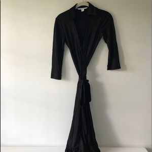 Diane von Furstenberg Black Wrap Dress
